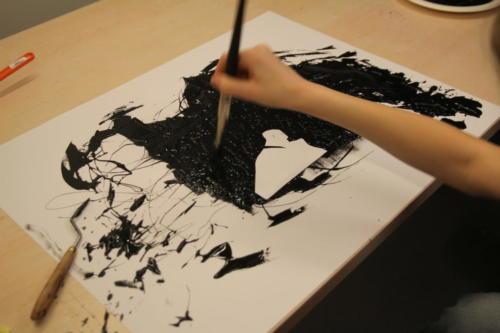 Tournage animation peinture
